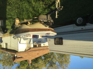 Boat, motor and trailer for sale $2200 obo