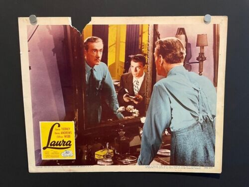 LAURA ORIGINAL LOBBY CARD 1952 Tierney Andrews Webb Classic *Hollywood Posters*