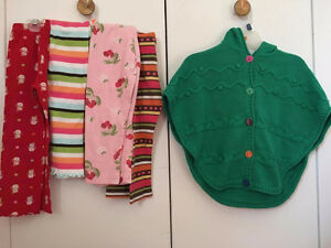 Gymboree 4 Pants and 1 Sweater for girls