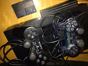 Modified 465GB HD Playstation 2 with controllers