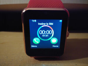 Smart Watch compatible Android et IOS (Carte SIM + Micro SD)