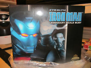 Brand-New Stealth Iron Man Ex. Edition Legendary Scale Bust!