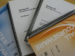 Biology Courseware and Lab Manual (UofW Biology Courses)