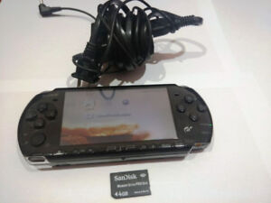 Sony PSP 3000 System w/4GB Memory Card Charger, case and games
