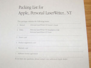 Apple Personal LaserWriter NT Owners Guide & Install Disc's $10 Belleville Belleville Area image 5