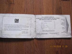 1968 Camaro, Chevelle and Chevy II Owners manual Sarnia Sarnia Area image 2