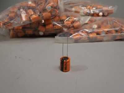 (200) Forever Electrolytic Capacitors 1000uF 25V CCA108M5R3 Type RB -NOS