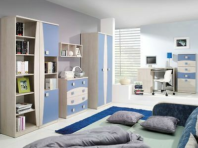 Children Kids Bedroom Furniture Collection TENUS Blue