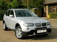 2007 07 BMW X3 3.0d SE Auto WITH FSH+3KEYS+FULL LEATHER
