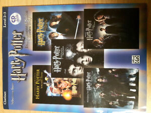 Harry Potter movies 1-5 for the Clarinet inc cd's