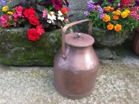 Vintage copper milk churn