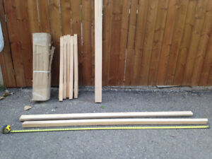 SOLID MAPLE HANDRAIL AND SPINDLES