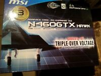Carte Video MSI GTX 460 hawk GDDR5 (2 Cartes) pour Gamer