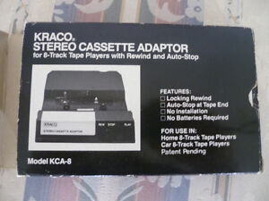 stereo cassette adapter for 8 track players