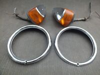 1969 VOLKSWAGEN TURN SIGNAL LIGHTS HEADLIGHT BEZELS