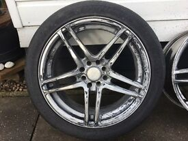 "17"" alloy wheels multi fit"