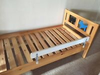Wooden toddler bed from Ikea
