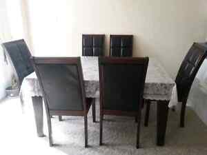 Dinning table with six chairs Kitchener / Waterloo Kitchener Area image 6