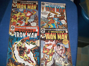 L'INVINCIBLE IRON MAN-4 VINTAGE BACK ISSUES-1970'S-EDITIONS B.H.