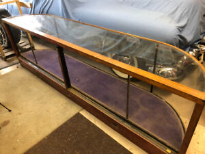Antique Store Curved Display Case