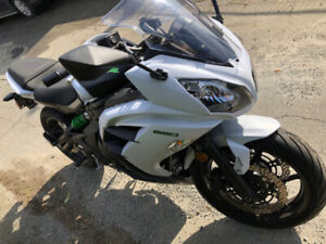 2015 Kawasaki Ninja 650 White