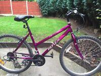 ladies reflex mountain bike hardly used