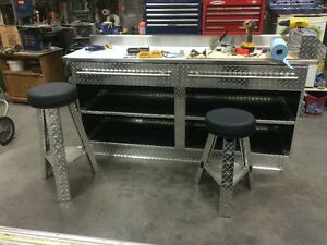 stainless steel ,checker plate work bench