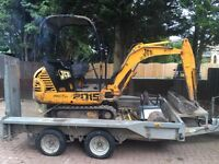 Mini digger&driver Operator Hire Leicestershire Coventry