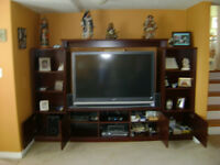 FURTHER REDUCED 4 Piece Cherry Sauder Entertainment Centre