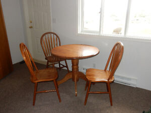 Maple wood table and chairs