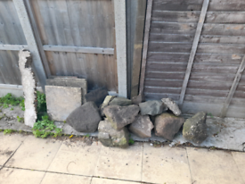 Garden rocks, slabs and edging