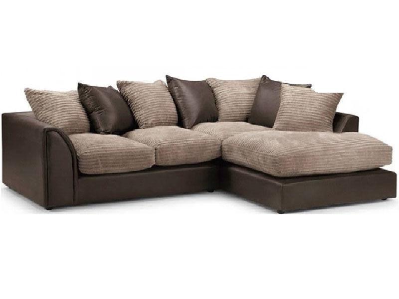 Brand New Byron Jumbo Fabric Corner Or 3 2 Sofa In Brown