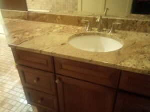 granite counter top vanity
