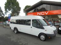 2013 FORD TRANSIT 135 T430 RWD 17 SEATER MINIBUS WITH TACHO