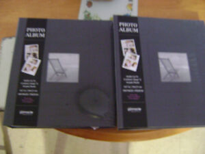 BRAND NEW IN SEALED PACKAGES - 2 BLACK PHOTO ALBUMS