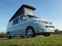 Volkswagen T5 Camper 4 Berth with Pop Top Low Miles Full width RIB bed