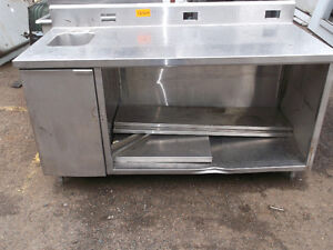S/S Counter with sink,  #1242-14