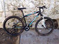 2015 indi mountain bike 27.5 650b wheels 120mm front suspension Hayes hydraulic brakes
