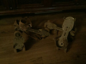Retro vintage Canadiana roller skates 2 pairs used condition