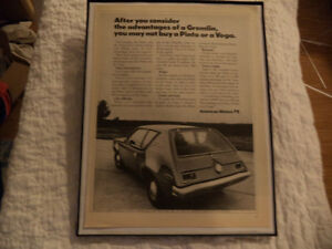 OLD AMC CLASSIC CAR FRAMED ADS Windsor Region Ontario image 4