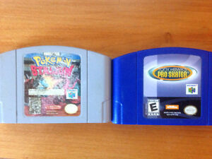 N64 Pokemon stadium and tony hawk pro skater