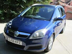 Vauxhall Zafira 1.6i 16v Active 2006 1 Previous Owner 77K From New FSH