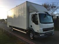 Daf LF45 180bhp 12 ton 24ft Dropwell Box Van, Ideal Removals, Only 61481 Miles