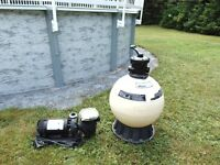 Waterway 1 hp pool pump and Pentair Sand Filter for above Ground