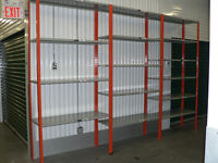 USED INDUSTRIAL METAL SHELVING 18'' x 48''