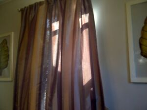 BEAUTIFUL SHIMMERING DRAPES with MATCHING CUSHIONS