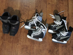 Kids skates and cross country ski boots