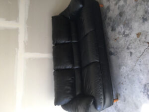 Black leather sofa and love seat for sale
