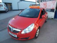 VAUXHALL CORSA 1.0i 12v LIFE 3 DOOR RED 3 MONTH WARRANTY FINANCE AVAILABLE