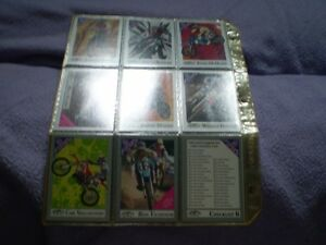 collection de carte motocross hi flyers/batman/robocop 2/wcw